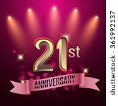 21st anniversary  party poster  ...   Shutterstock .eps vector #361992137