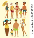 set of beach people characters... | Shutterstock .eps vector #361992755