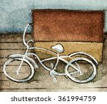 old vintage urban bicycle... | Shutterstock . vector #361994759