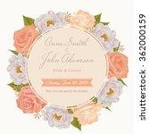 flower wedding invitation card  ... | Shutterstock .eps vector #362000159