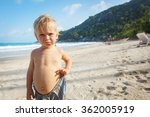 Portrait Of Little Toddler On ...