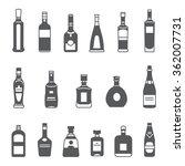 alcohol bottles. set of black... | Shutterstock .eps vector #362007731