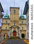 Small photo of Church of the Jesuits in the Old Town of Solothurn. Solothurn is the capital of Solothurn canton in Switzerland. It is located on banks of the Aare river