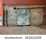 heavy industrial door against... | Shutterstock . vector #362021039