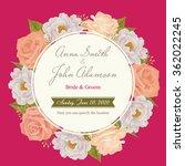 flower wedding invitation card  ... | Shutterstock .eps vector #362022245