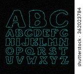 comic book font vector. stars... | Shutterstock . vector #362023784