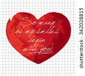 valentines day hand painted... | Shutterstock . vector #362028815