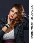 model portrait of a beautiful...   Shutterstock . vector #362042627