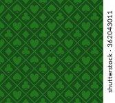 green pattern texture poker... | Shutterstock .eps vector #362043011