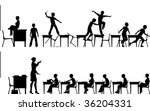silhouettes of two classroom... | Shutterstock . vector #36204331