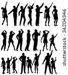 set of silhouettes of people... | Shutterstock . vector #36204346