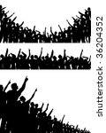 set of silhouettes of crowds... | Shutterstock . vector #36204352