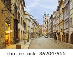 view to the street in the old... | Shutterstock . vector #362047955