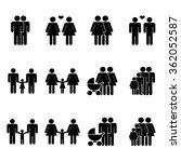 gay family icons set | Shutterstock .eps vector #362052587