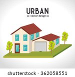 urban buildings graphic  | Shutterstock .eps vector #362058551
