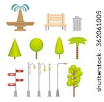 urban icons elements | Shutterstock .eps vector #362061005