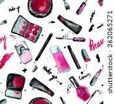 vector glamorous make up... | Shutterstock .eps vector #362065271