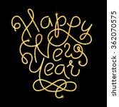 happy new year glitter golden...   Shutterstock .eps vector #362070575
