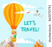 let's travel. design concept... | Shutterstock .eps vector #362070791