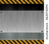 metal plate and warning stripes | Shutterstock . vector #362074094