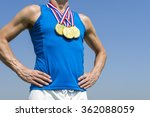 athlete standing with three... | Shutterstock . vector #362088059