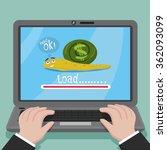 cartoon businessman  show...   Shutterstock .eps vector #362093099