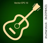 to play guitar vector...