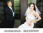 Newlyweds On Background Of...