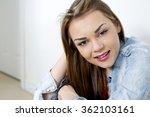 pretty caucasian casual woman... | Shutterstock . vector #362103161