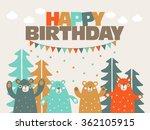 happy birthday   lovely vector... | Shutterstock .eps vector #362105915