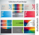 collection of colorful card... | Shutterstock .eps vector #362110505
