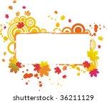 grunge autumnal vector frame... | Shutterstock .eps vector #36211129