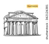 rome famous building hand drawn ... | Shutterstock .eps vector #362126381