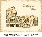 coliseum in rome  italy.... | Shutterstock .eps vector #362126579