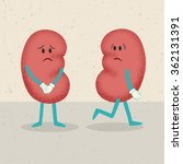 retro cartoon of 2 kidneys.... | Shutterstock .eps vector #362131391