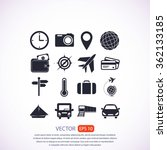 travel icons set | Shutterstock .eps vector #362133185