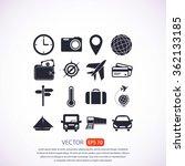 travel icons set | Shutterstock .eps vector #362133185