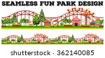 seamless fun park design with... | Shutterstock .eps vector #362140085