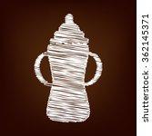 baby bottle icon. vector... | Shutterstock .eps vector #362145371