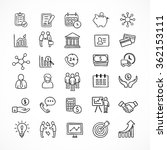 business icons and infographic... | Shutterstock .eps vector #362153111