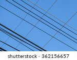 high voltage  lines and blue... | Shutterstock . vector #362156657