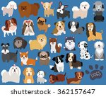 Stock vector cute dog and puppy set 362157647