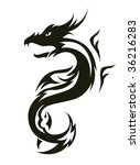 vector version. isolated tattoo ... | Shutterstock .eps vector #36216283