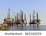 oil drilling platform in the... | Shutterstock . vector #362163224