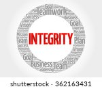 integrity circle word cloud ... | Shutterstock .eps vector #362163431