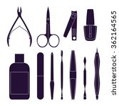 set of tools for manicure.... | Shutterstock .eps vector #362164565