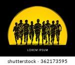 marathon runners  crowd of... | Shutterstock .eps vector #362173595