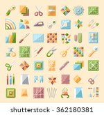 colorful quilting line icons...   Shutterstock .eps vector #362180381