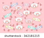 funny vector background with... | Shutterstock .eps vector #362181215