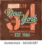vintage college label. quality... | Shutterstock .eps vector #362181587